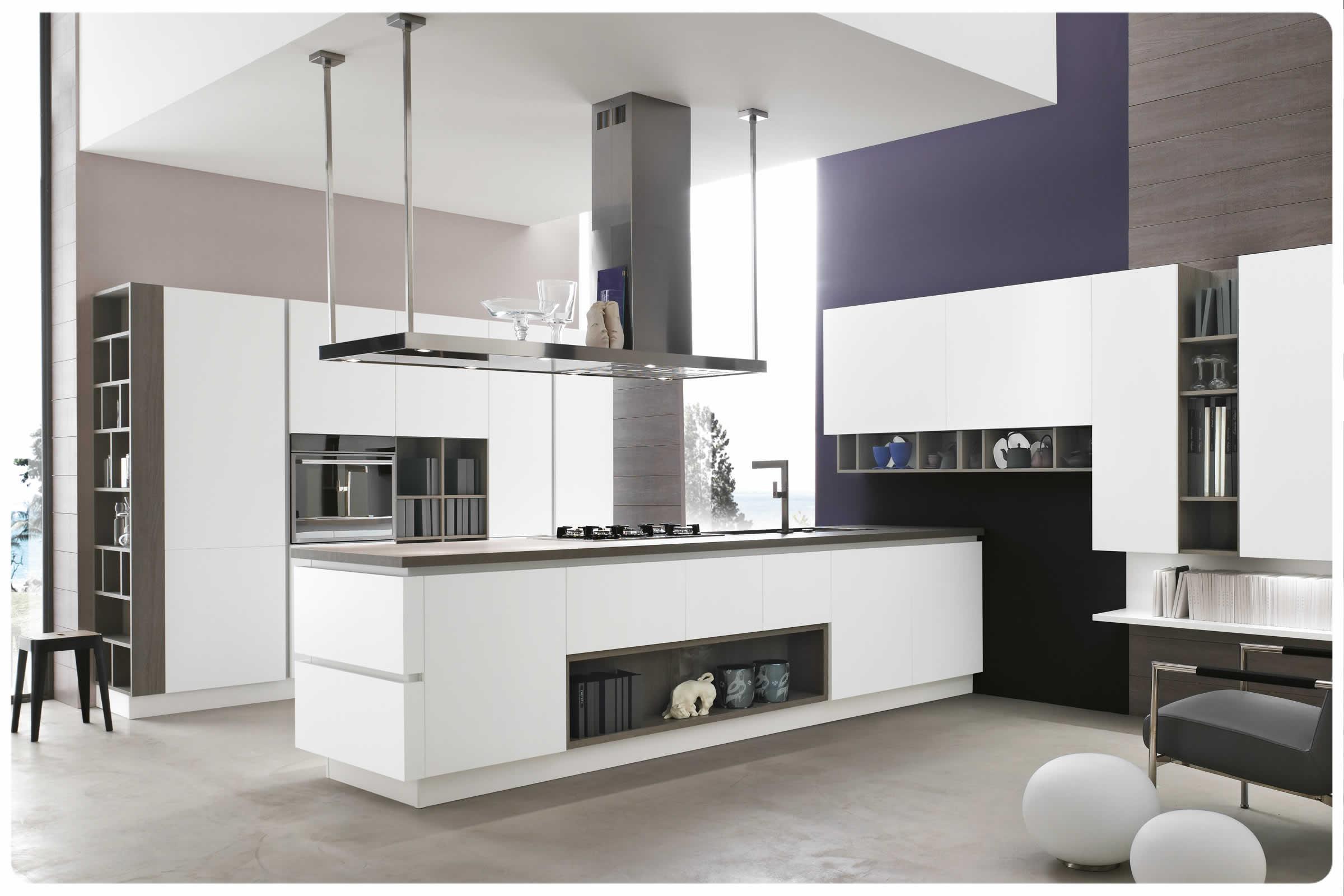 Cucine Bianche Moderne. Cucine Moderne Con Isola Bianche Laccatego ...