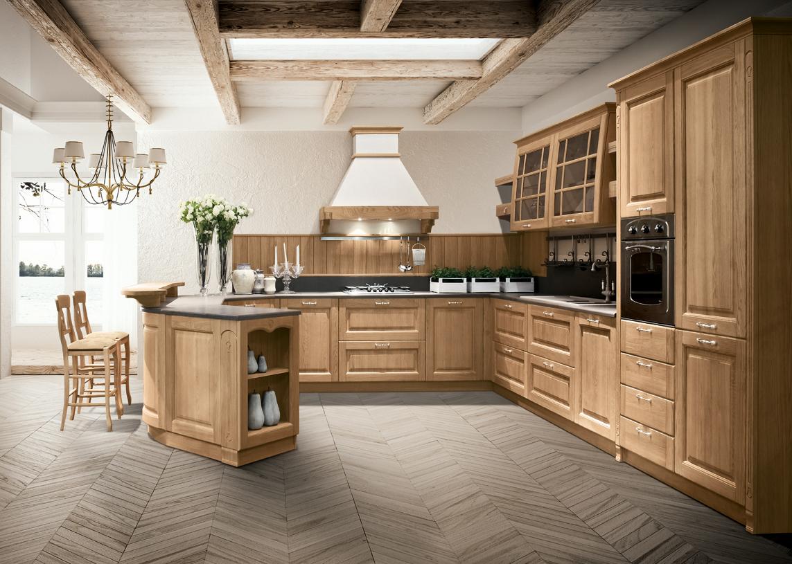 Cucine componibili in stile classico e contemporaneo for Cucine classiche con isola centrale