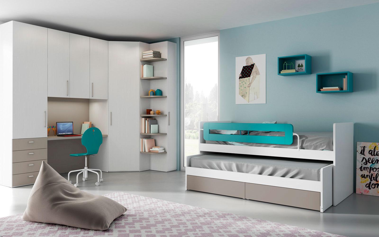 Camerette per ragazzi e camere per bambini gruppo gradi - Camerette design bambini ...