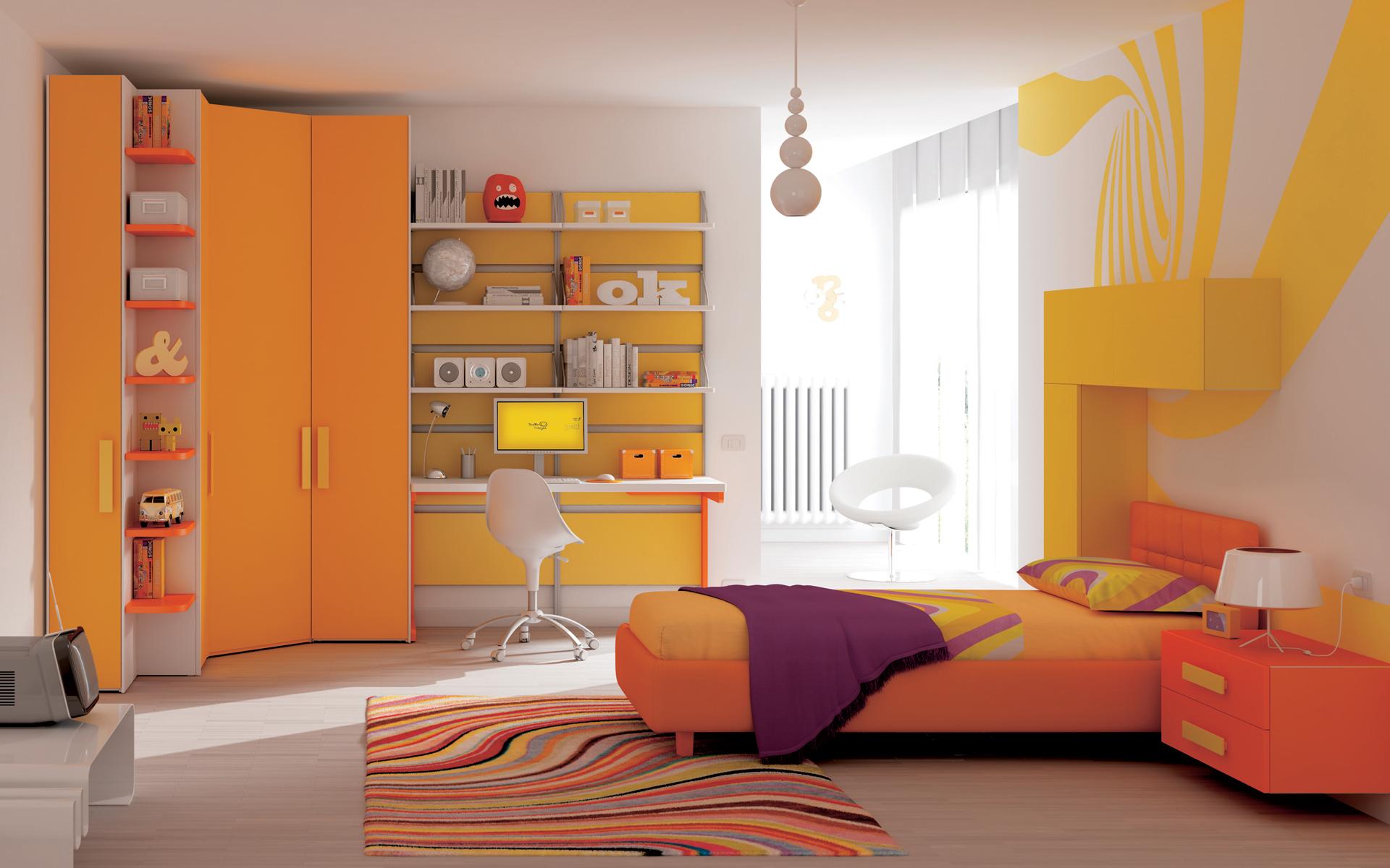 Cameretta Arancione E Gialla : Camerette per ragazzi e camere per bambinigruppo gradi